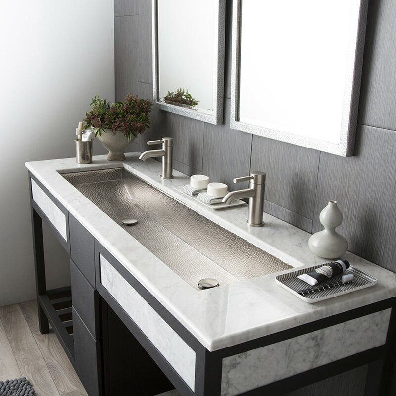lacava the cube charming trough sink double bathroom undermount
