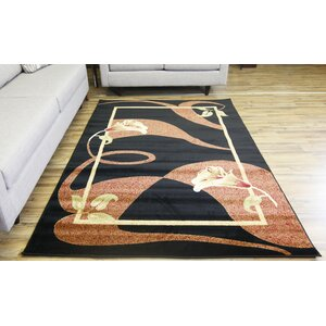 Passion Black/Red Area Rug
