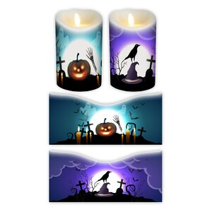 2 Piece Halloween Votive Candle Wrap (Set of 2)