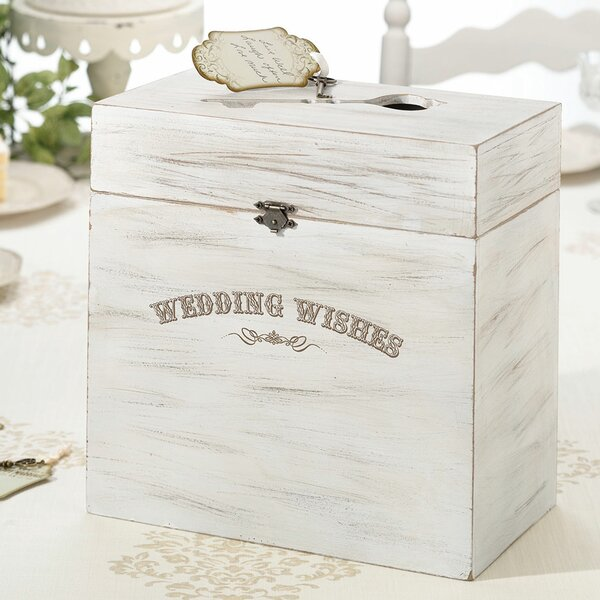 Le Prise Wedding Wishes Wooden Key Card Box & Reviews | Wayfair