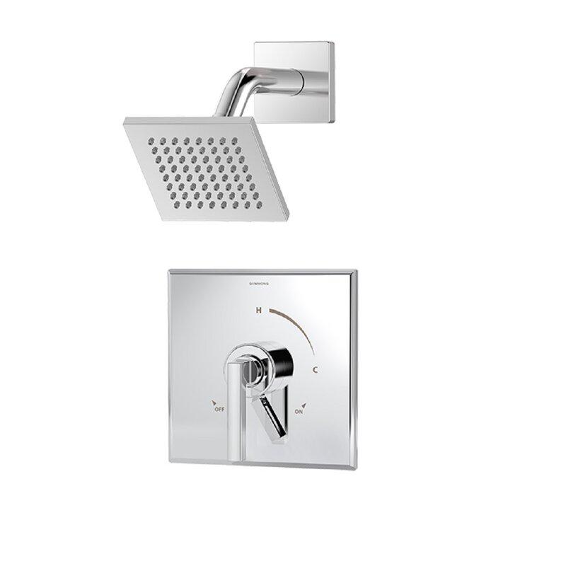 Symmons Duro 1-Handle Shower Valve Faucet Trim Kit with Square ...