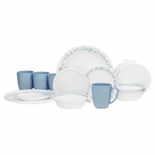 Livingware Country Cottage 20 Piece Dinnerware Set Service for 4  sc 1 st  Wayfair & Primitive Dinnerware | Wayfair