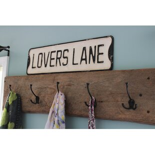 Lovers Lane Vintage Sign Metal Wall Décor