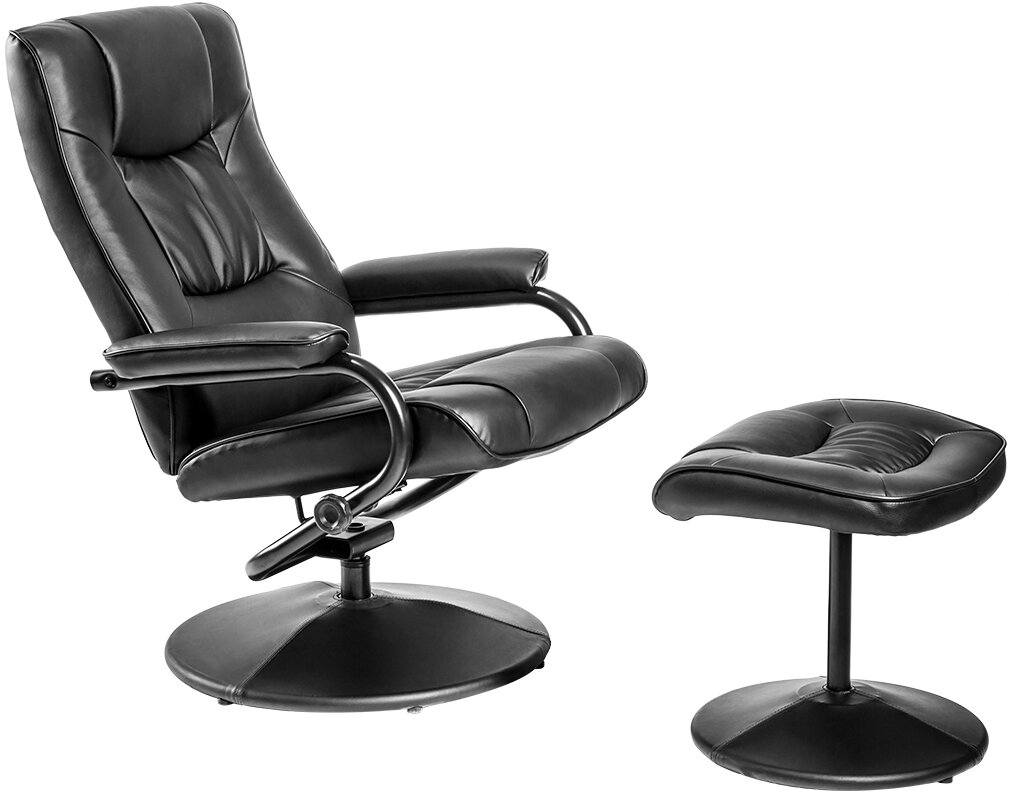 Leather Recline Office Chair Relax Sofa W Ottoman O3. 77