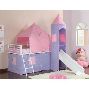 Pippin Princess Castle Twin Low Loft Bed