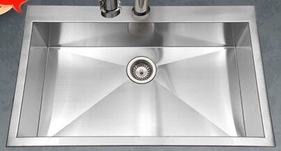Single Kitchen Sinks Houzer bellus 33 x 22 zero radius topmount large single bowl bellus 33 x 22 zero radius topmount large single bowl kitchen sink workwithnaturefo
