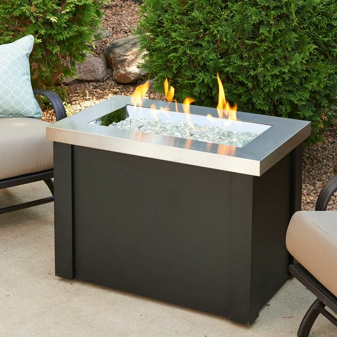 the outdoor greatroom company providence metal gas fire pit table rh wayfair com patio set with propane fire pit table