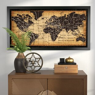 Old world map table wayfair old world map framed graphic art gumiabroncs Images