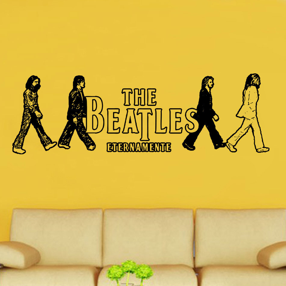 Kult Kanvas The Beatles Entertainment Decal Vinyl Wall Sticker ...