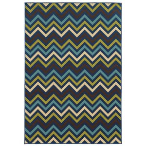 Heath Blue/Green Indoor/Outdoor Area Rug