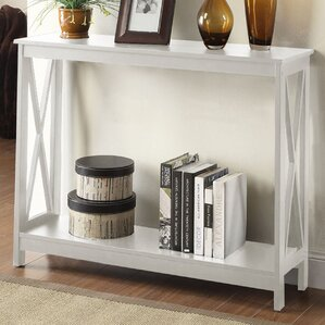 Narrow White Console Table white console & sofa tables you'll love | wayfair