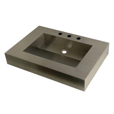 Stainless Steel Rectangular Drop In Bathroom Sink