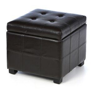Leather Leather Ottoman by Thr..