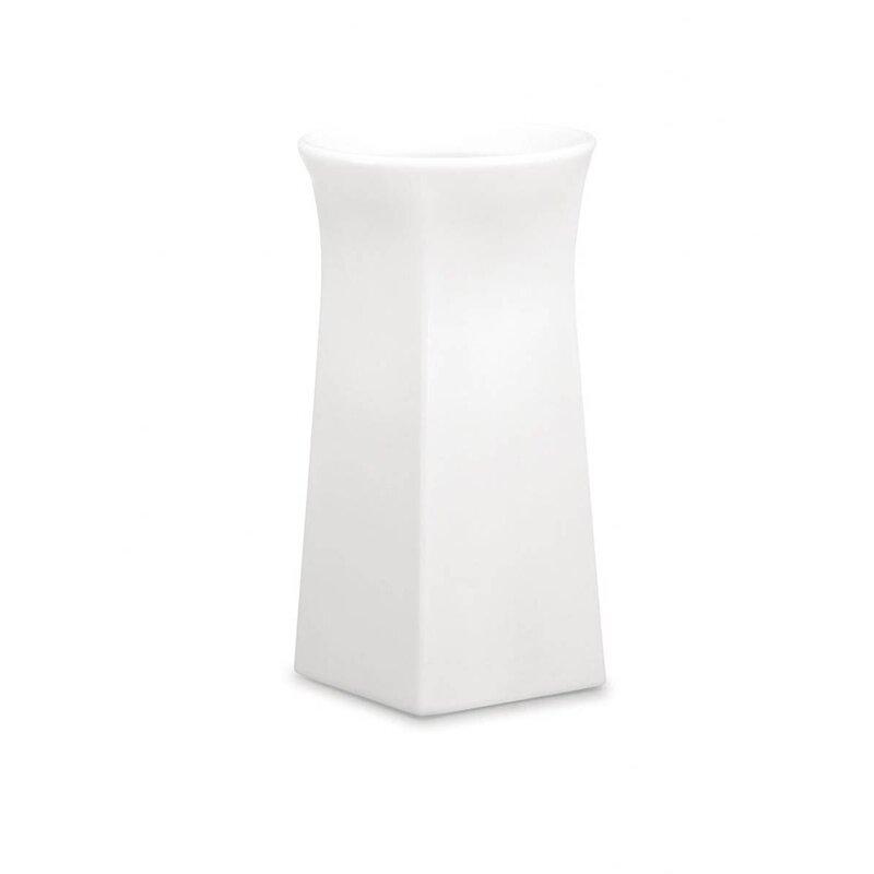 """100 Essentials Brightness Plastic Pot Planter  Color: White, Size: 38.58"""" H x 20.87"""" W x 20.87"""" D"""