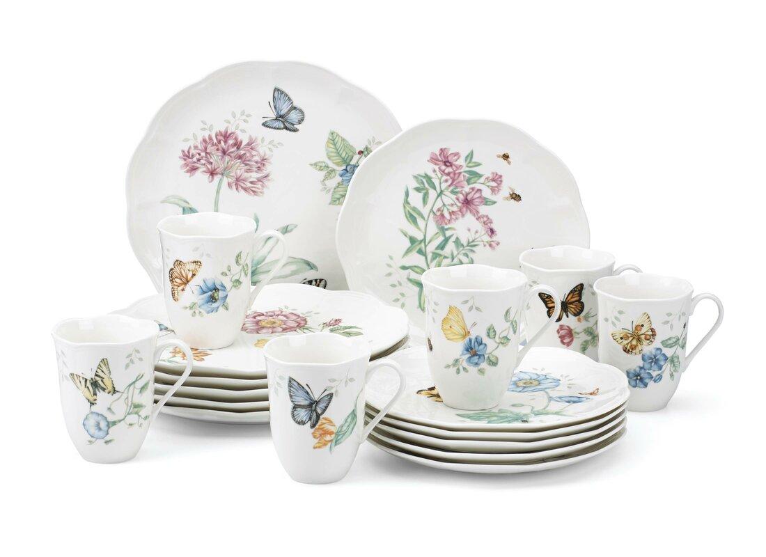 Lenox butterfly meadow 18 piece dinnerware set service for 6 butterfly meadow 18 piece dinnerware set service for 6 reviewsmspy