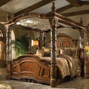 villa valencia canopy bed - King Canopy Bed Frame