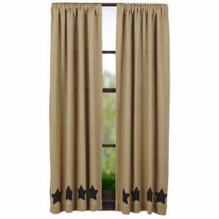Claysville Geometric Burlap Curtain Panels Set Of 2
