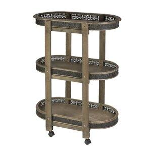 3 Tier Wood Bar Cart by Tripar