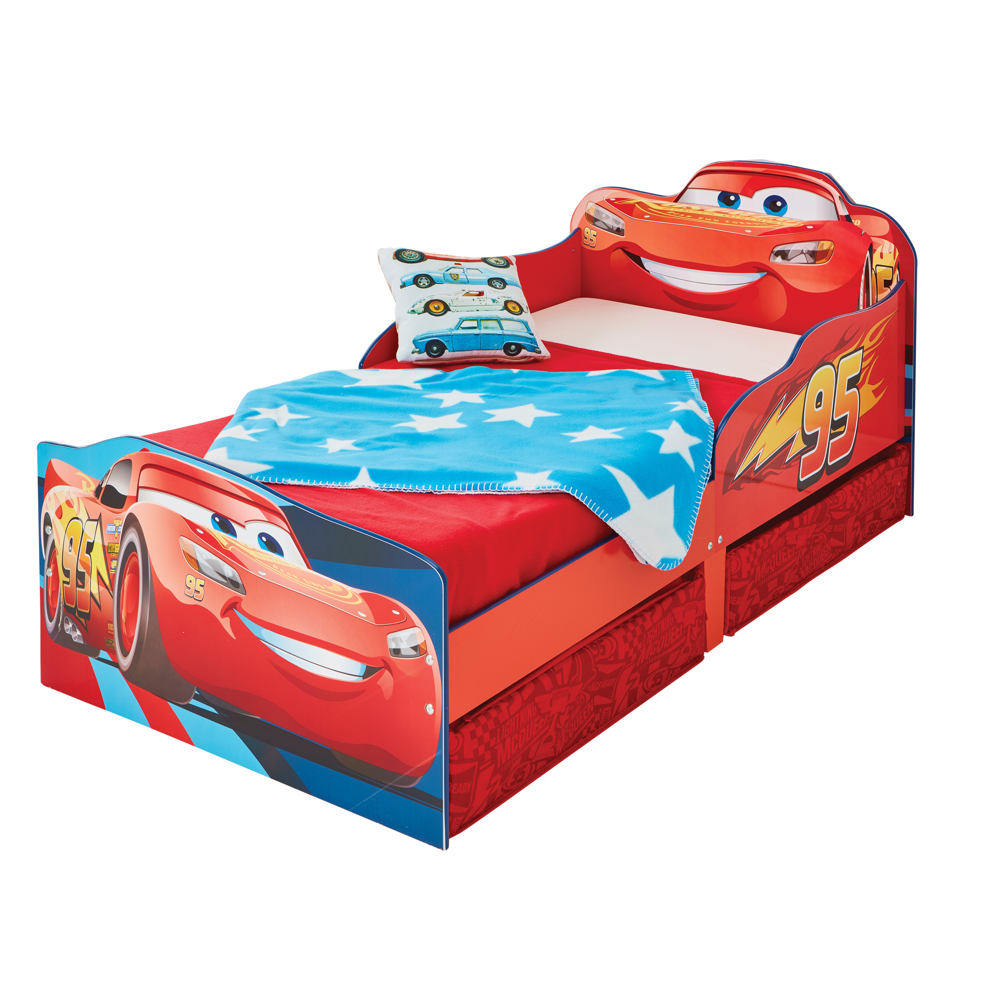 sale retailer 2e60c 8b5d0 Disney Lightning McQueen Toddler Bed with Storage Drawers