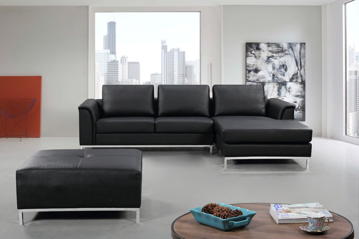 3 piece leather living room set velago 3 leather living room set amp reviews wayfair 24609
