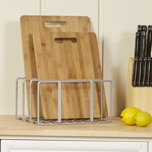 Wayfair Basics Cutting Board U0026 Bakeware Organizer Rack