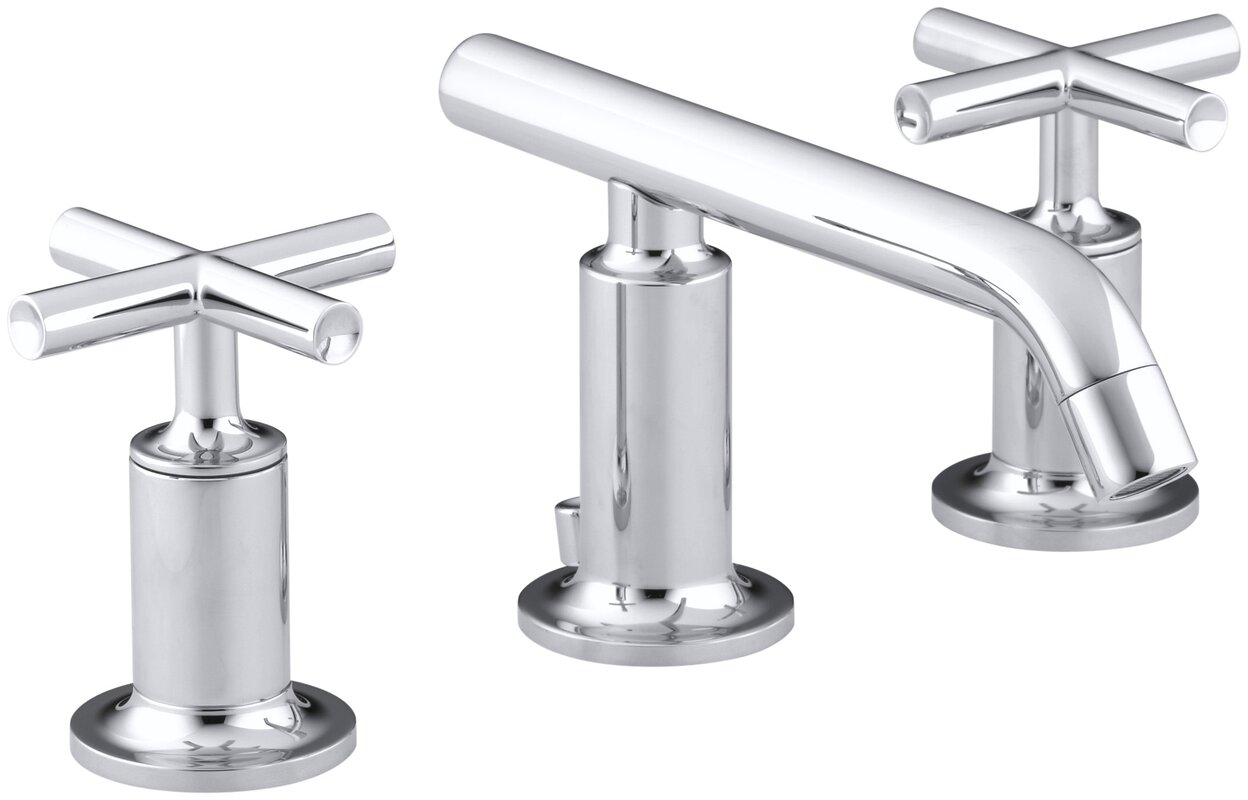 Kohler Purist Widespread Bathroom Sink Faucet with Low Cross ...