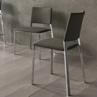 Kate Genuine Leather Upholstered Dining Chair (Set of 2)