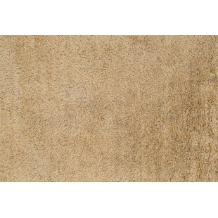Turco Hand Woven Faux Fur Gold Light Brown Area Rug