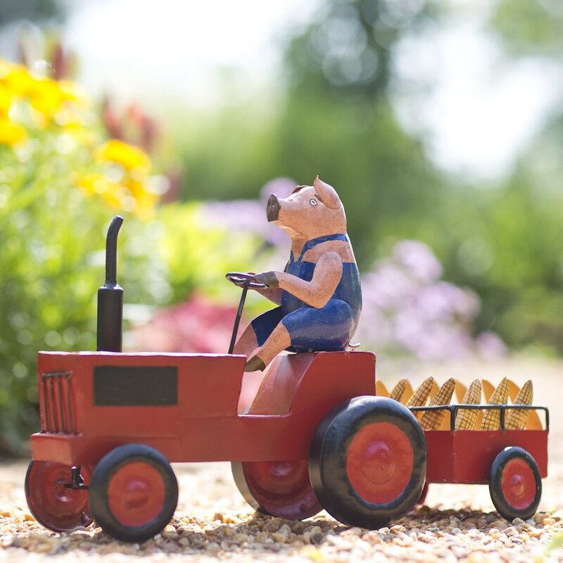 Plow hearth pig on tractor figurine reviews wayfair - App that puts santa in your living room ...