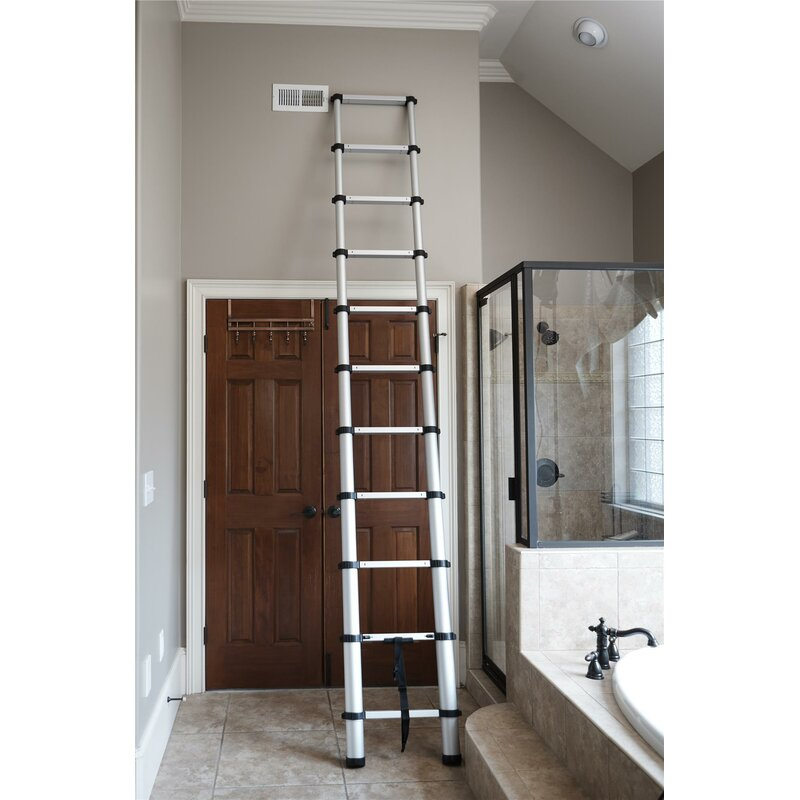 Cosco Home And Office Smartclose Telescoping 14 Ft Aluminum Extension Ladder With 300 Lb Load Capacity Wayfair