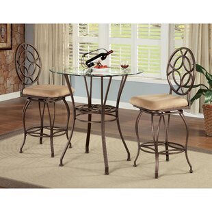 Staley 3 Piece Counter Height Dining Set Spacial Price