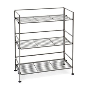 3 Tier Iron Slat Tower Shelving