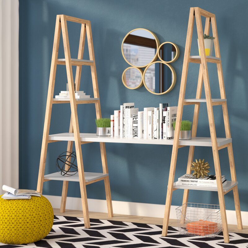 Mercury Row Buenrostro Triangle Desk Ladder Bookcase