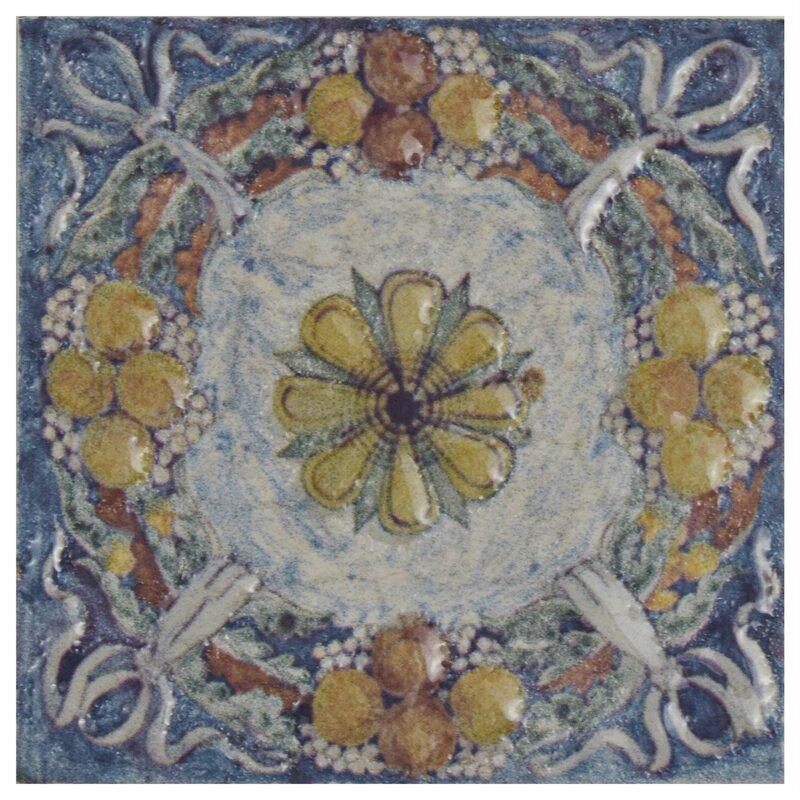 Obila 2 75 X Ceramic Trim Wall Medallions Tile In Arenal Taco