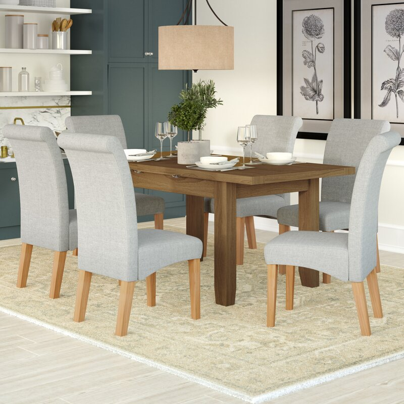Three Posts Berwick Extendable Dining Table And 6 Chairs Reviews Wayfair Co Uk