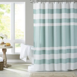 brown and aqua shower curtain. Malory Shower Curtain Curtains  Birch Lane