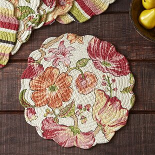 Stanmore Round Quilted Placemats (Set Of 6)
