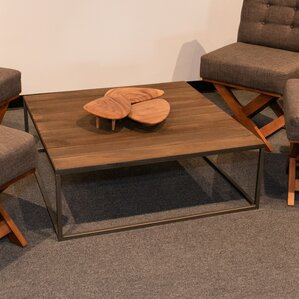 Square Vintage Coffee Table by REZ Furniture