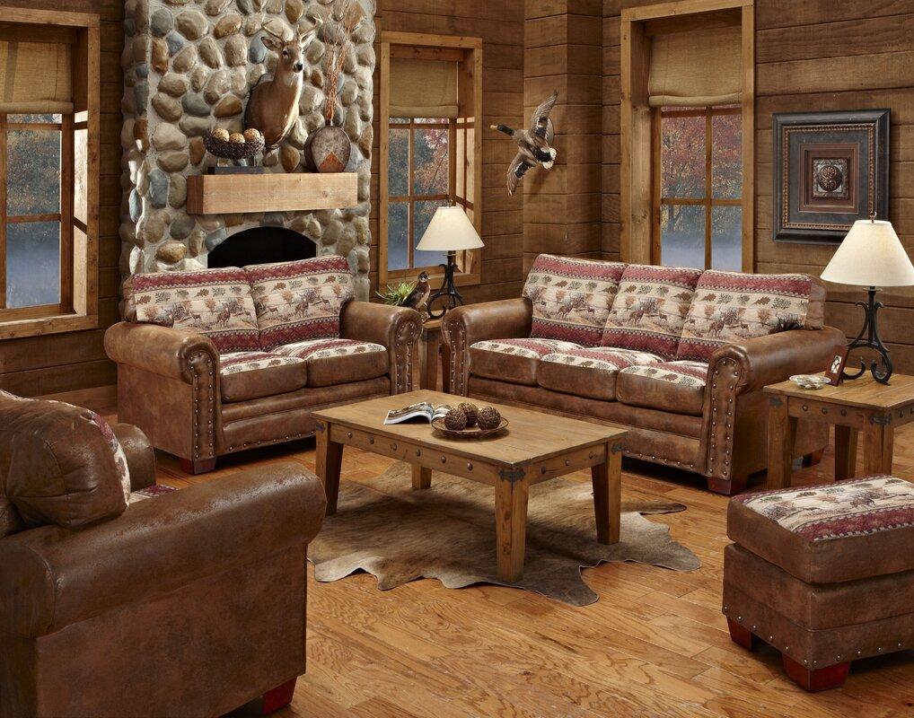 American Furniture Classics Deer Valley 4 Piece Living Room Set ...