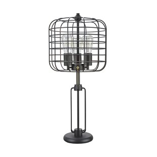 Wire cage lamp wayfair gary wire cage metal 26 table lamp greentooth Images