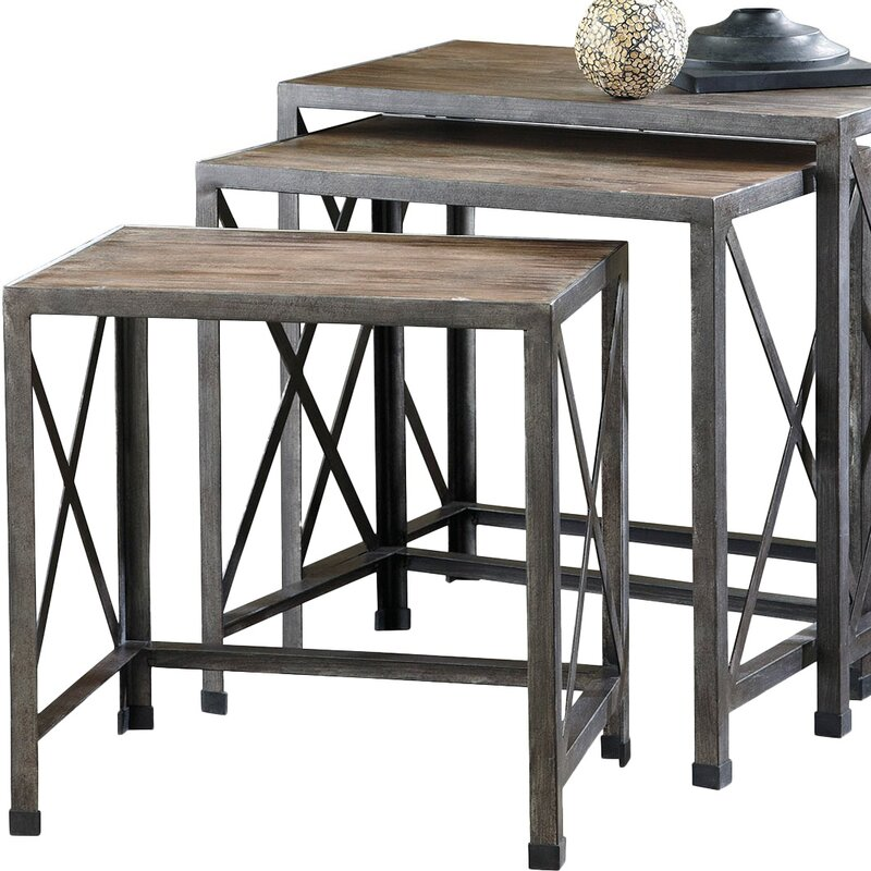 Doreen Piece Nesting Tables Reviews Joss Main - Nesting table with drawer