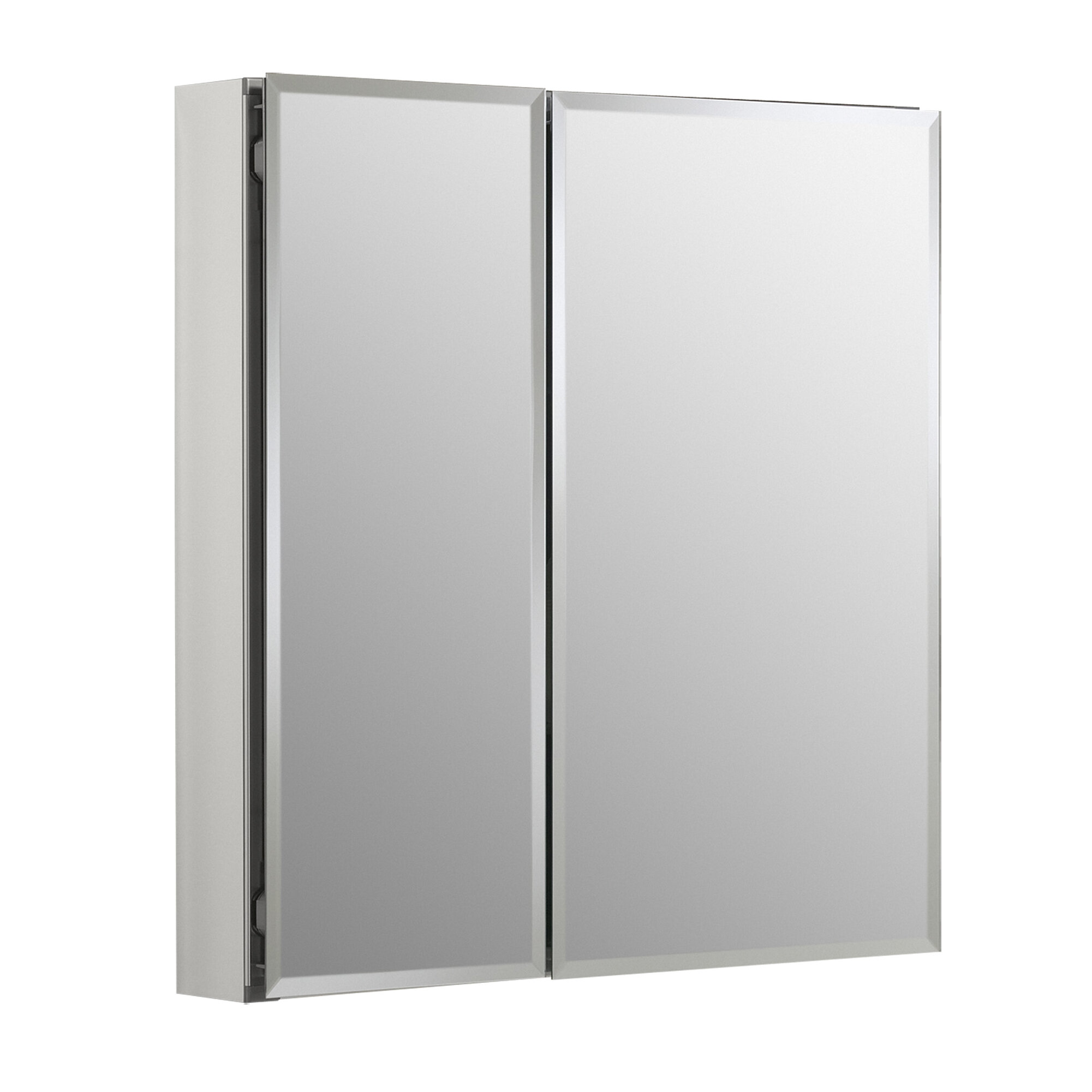 K Cb Clc2526fs Kohler 25 X 26 Recessed Or Surface Mount Frameless Medicine Cabinet With 2 Adjule Shelves Reviews Wayfair