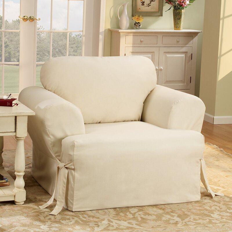 Cotton Duck Sofa Slipcover T Cushion Slipcovers T Cushion