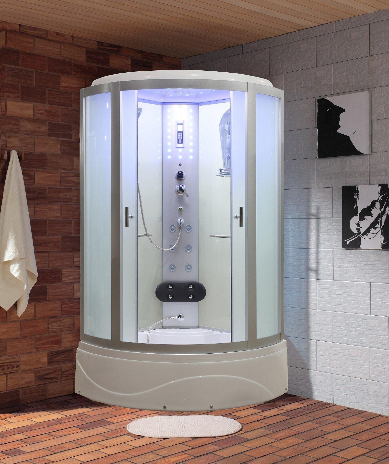 Eagle Bath 36 X 862 Round Sliding Steam Shower Wayfair