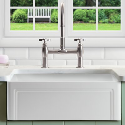 """Farmhouse Kitchen Sinks nantucket sinks cape 24"""" x 18"""" kitchen sink with grid and drain"""