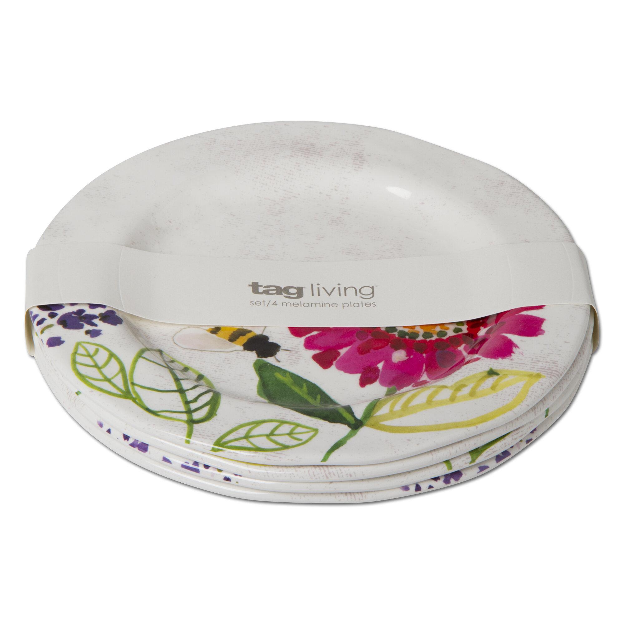 sc 1 st  Wayfair & TAG Fresh Flowers 4 Piece Melamine Salad or Dessert Plate Set | Wayfair
