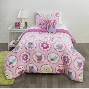 Birds and Flowers Comforter Set