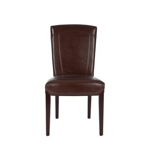 Ken Bi-Cast Leather Side Chair in Distres..