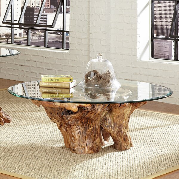 Union Rustic Winooski Root Ball Coffee Table Reviews Wayfair