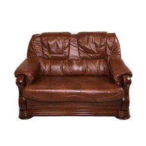 Bobby Jones Genuine Leather Loveseat by Fleur De Lis Living